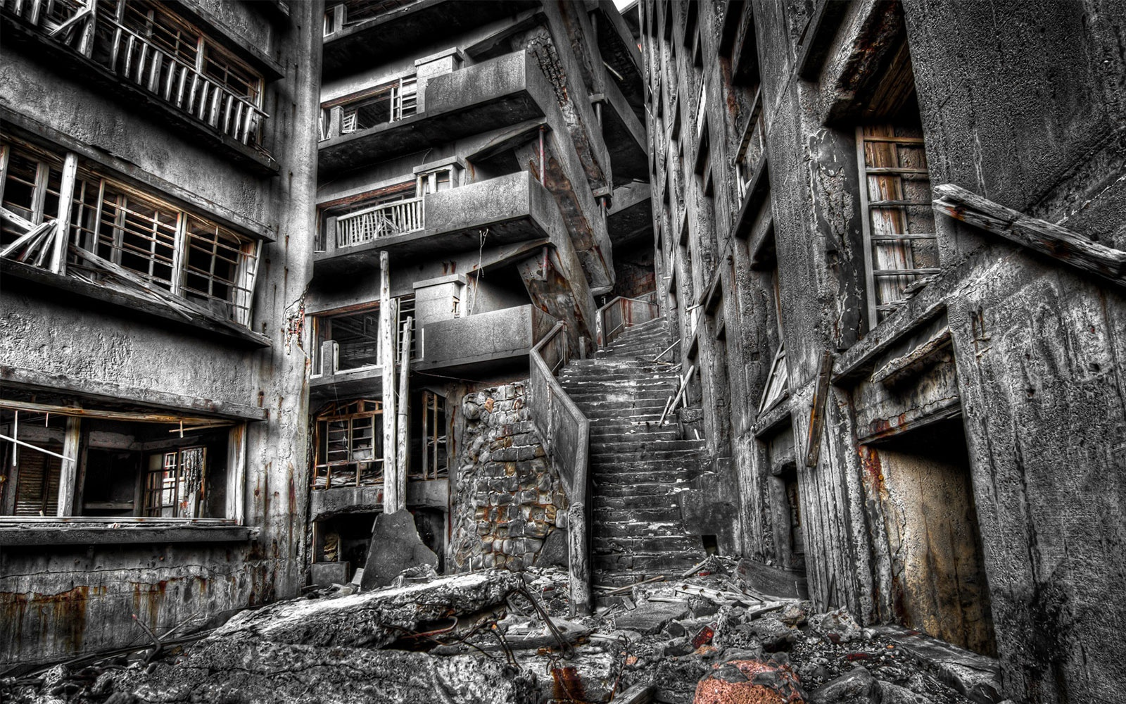 Stairway to Hell, Hashima Island, Japan