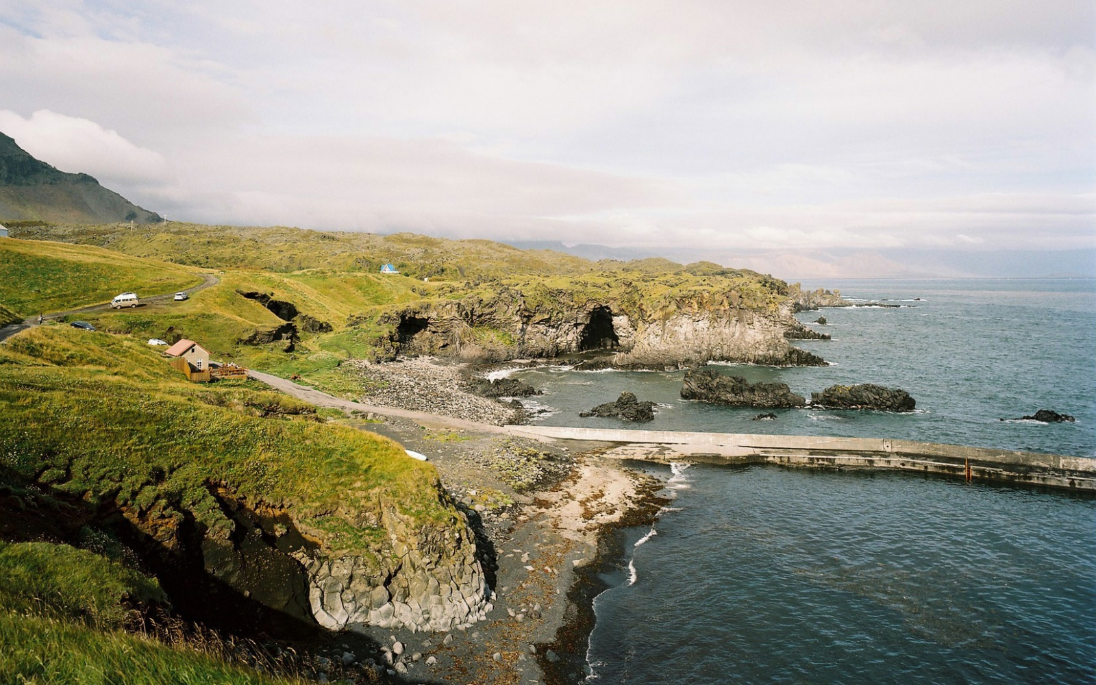 country-side drive off the coast in Iceland