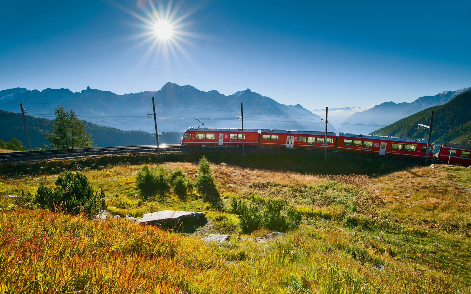 Switzerland mountain rail line