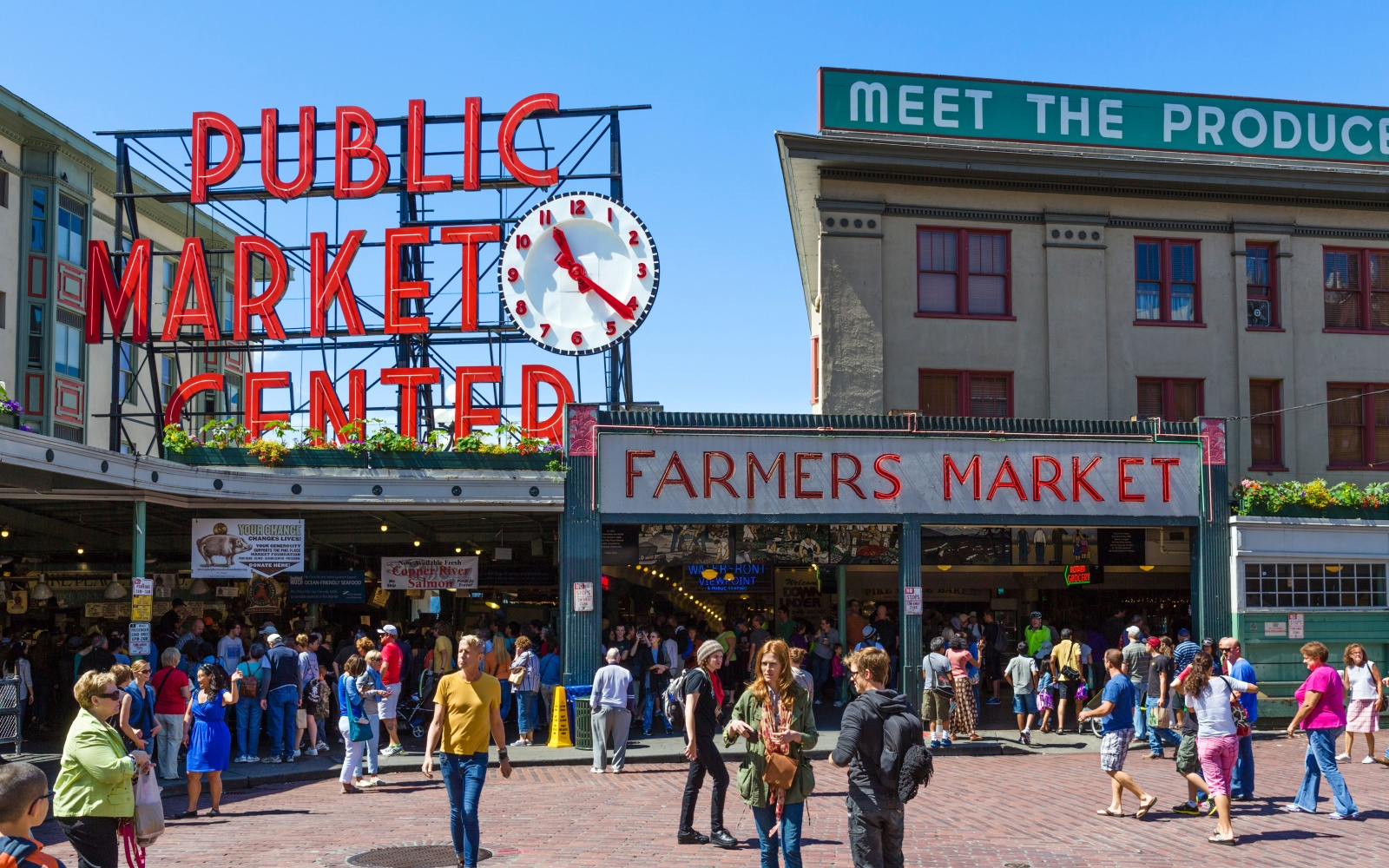 The world s most visited tourist attractions travel for Fish market seattle