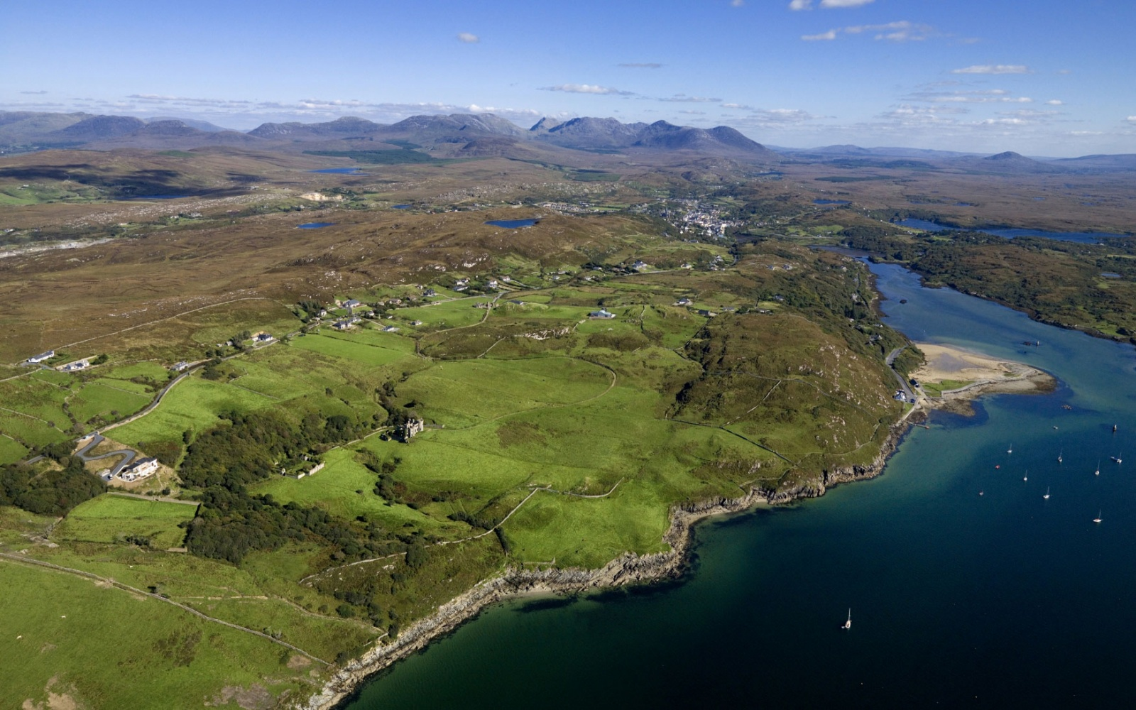 aerial of Western Ireland coast