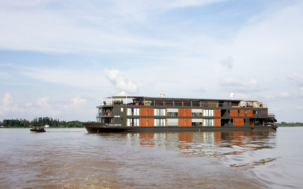Cruise ship on Mekong River, China
