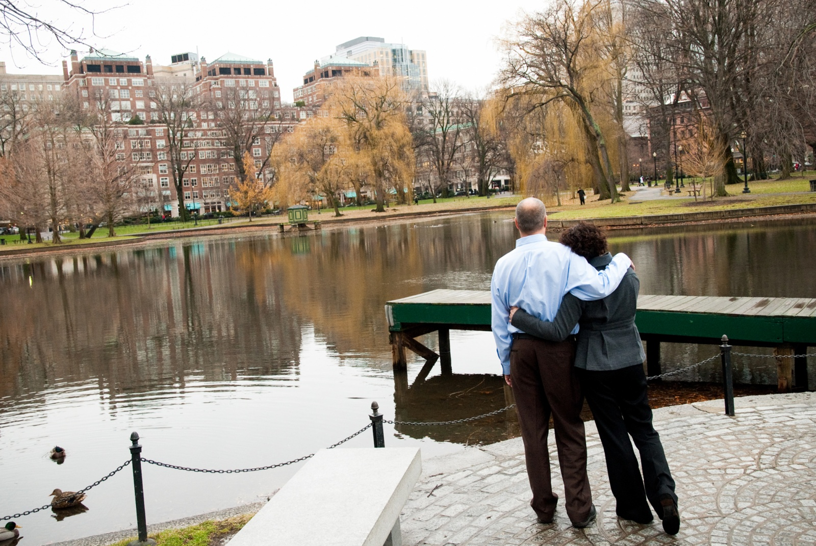 Couple in Boston Common, Boston, Massachusetts