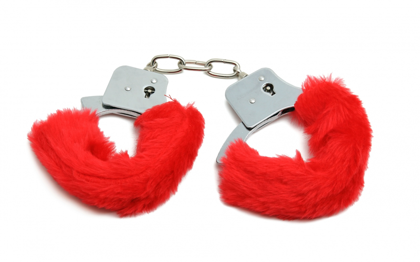 red fuzzy handcuffs