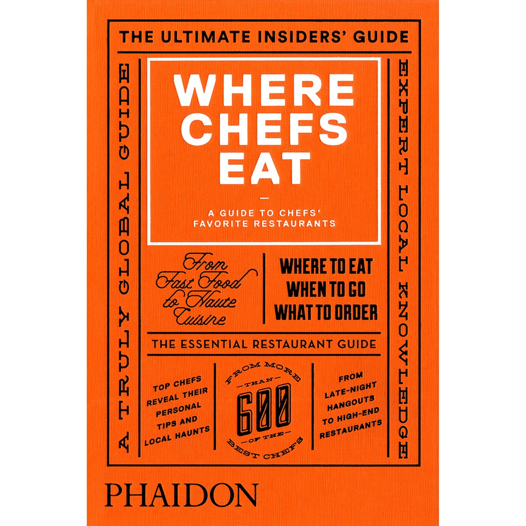 Where Chefs Eat, Book Cover