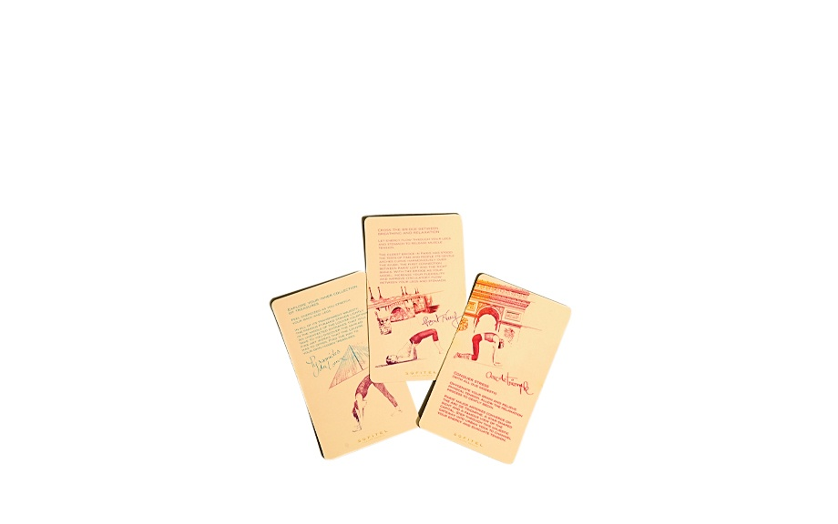 Sofitel Paris Arc de Triomphe yoga instruction cards