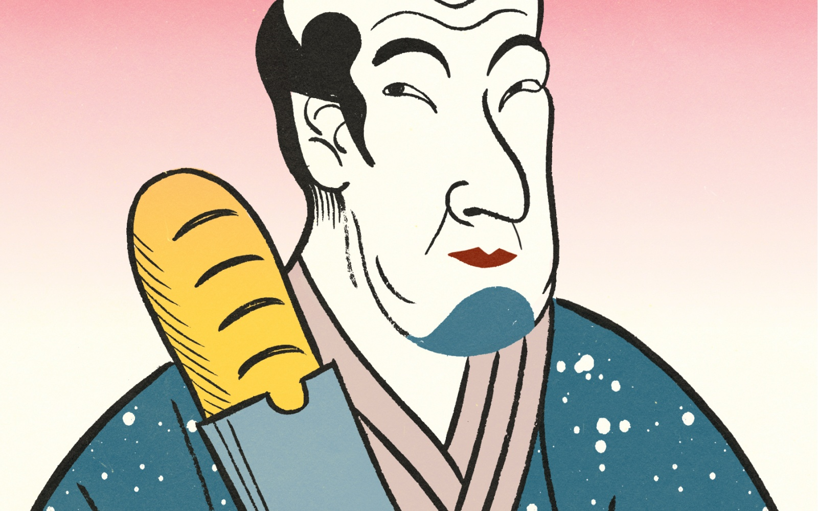japanese chef illustration