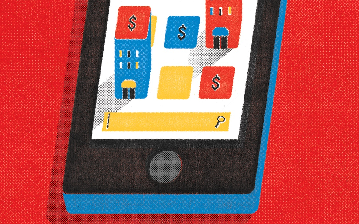 hotel cellphone app illustration