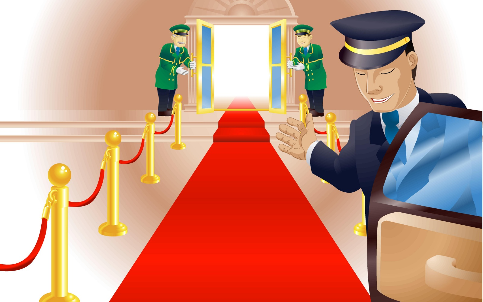 VIP hotel treatment illustration