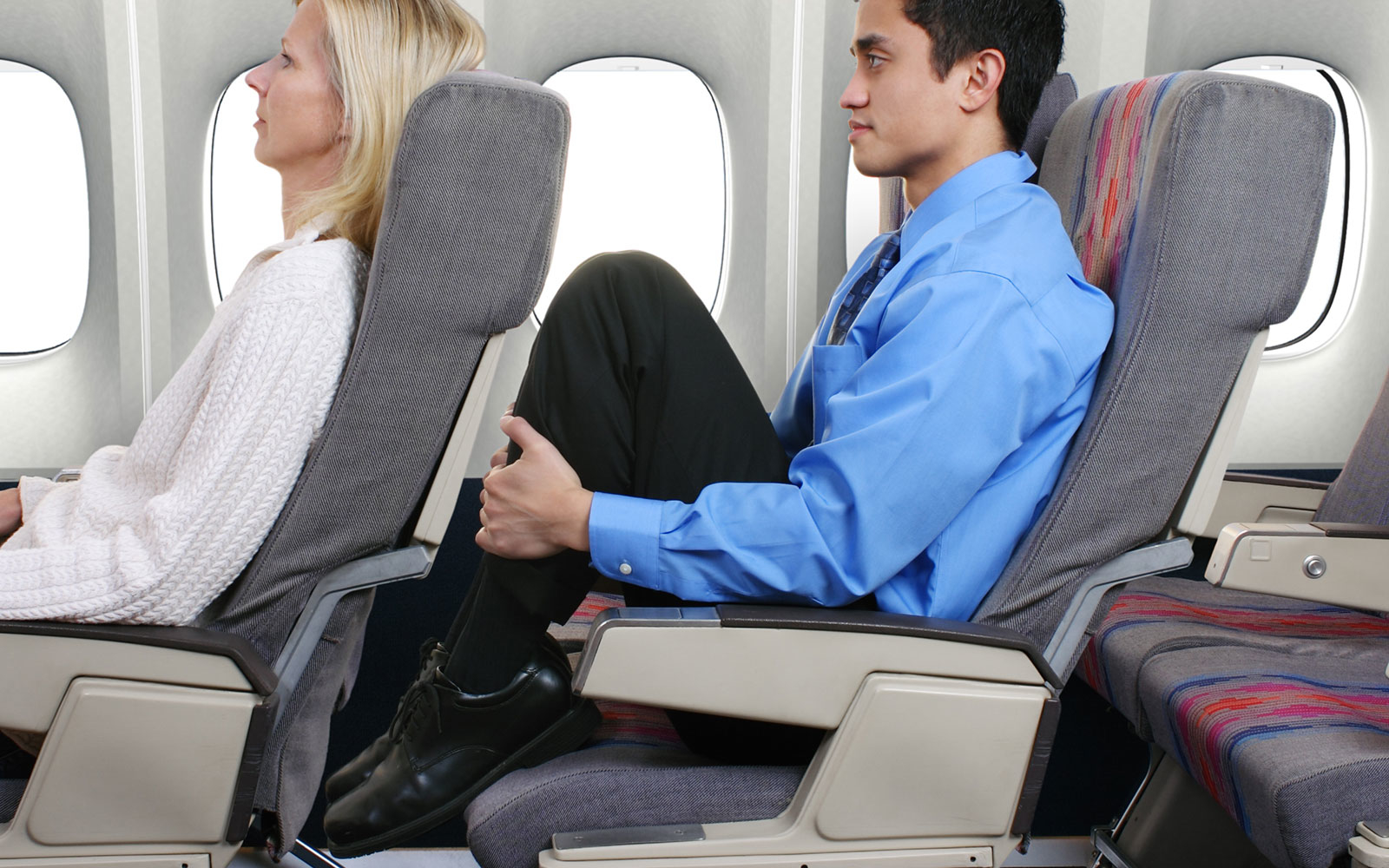 smaller airplane seats