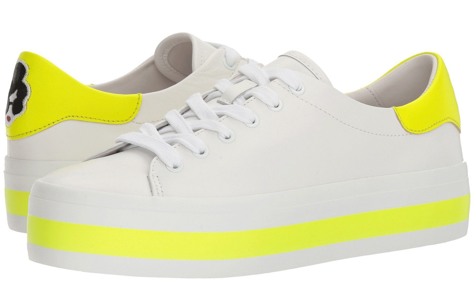 Alice + Olivia yellow sneaker