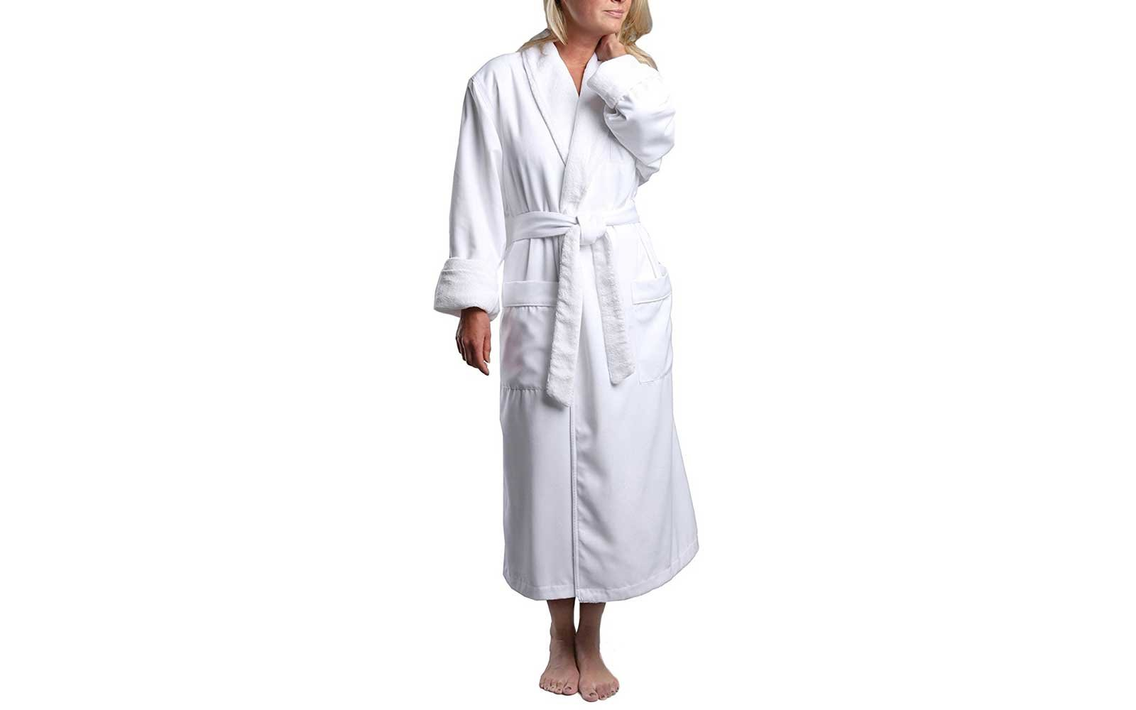 551b887220 Monarch Cypress Unisex Chamois Microfiber Shawl Collar Robe