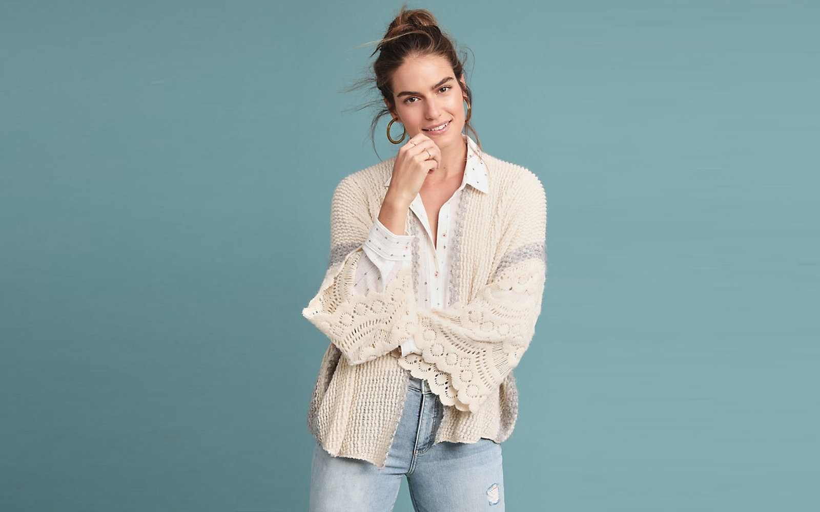 Travel Sweater Airplane Cardigan Fashion Rosanna Crocheted Kimono Anthropologie
