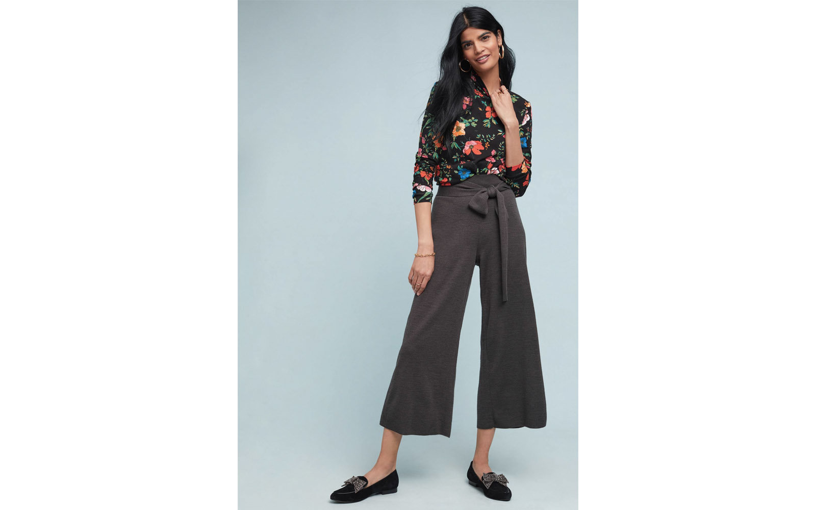 Anthropologie Tie-front Sweater Pants