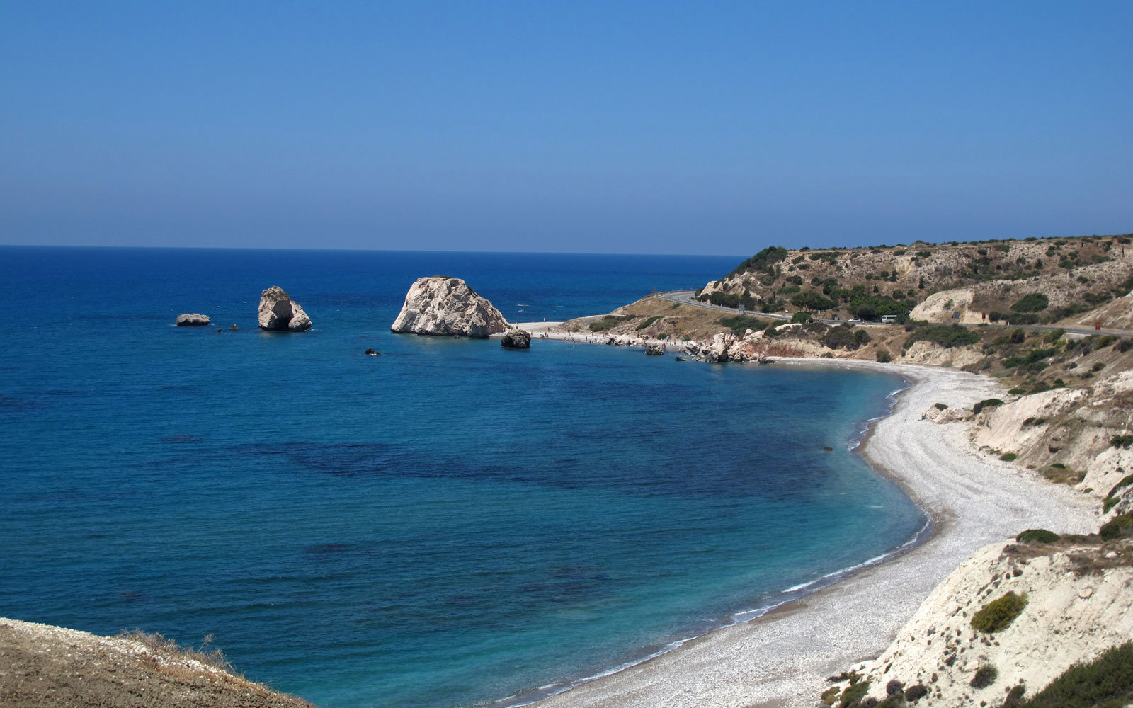 The coast of Cyprus.