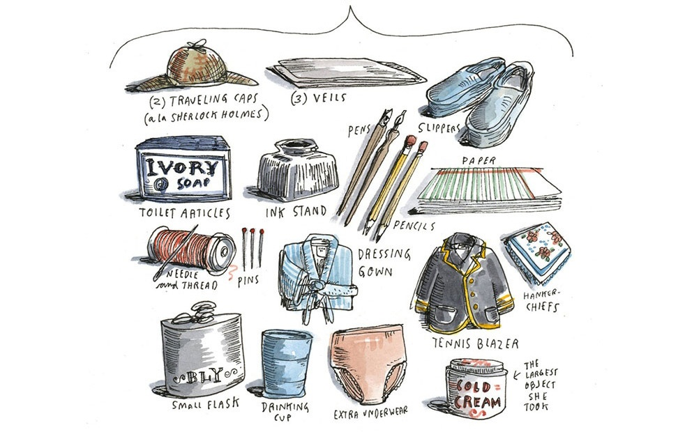 Nellie Bly packing list