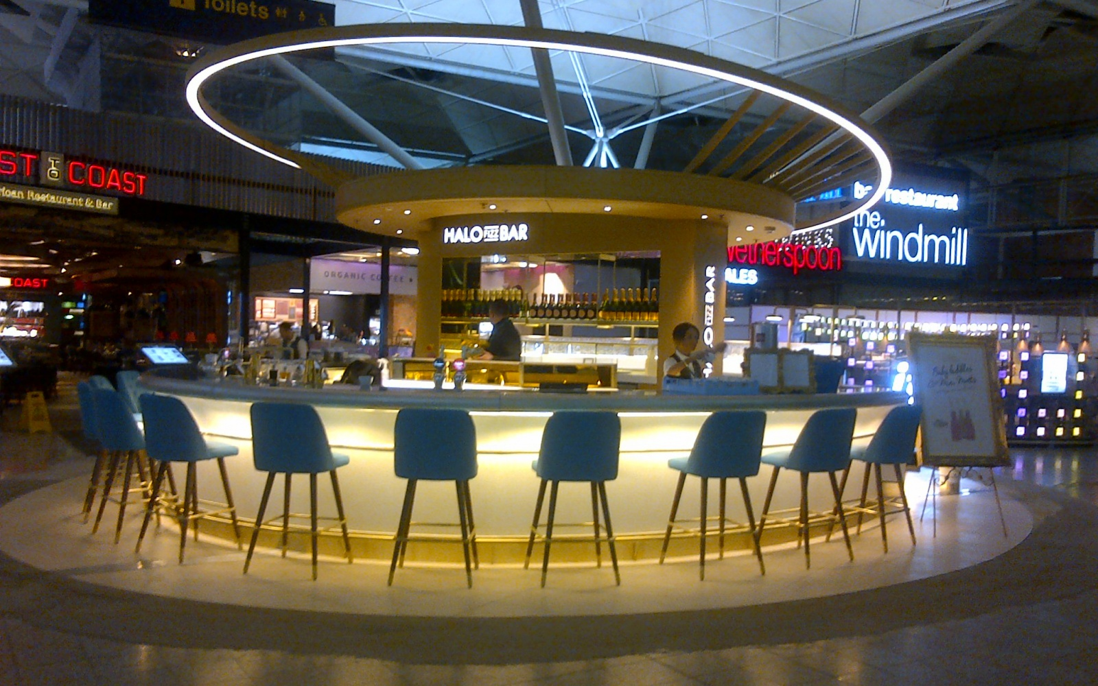 Halo Fizz Bar at London's Stansted Airport