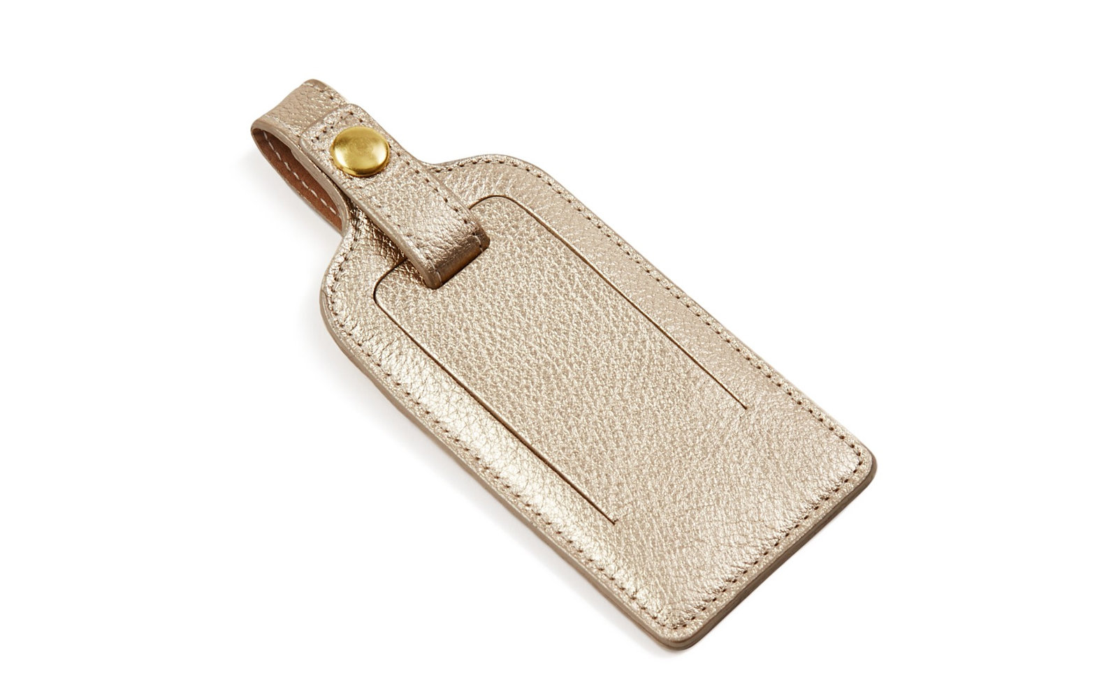 cute gold luggage tag