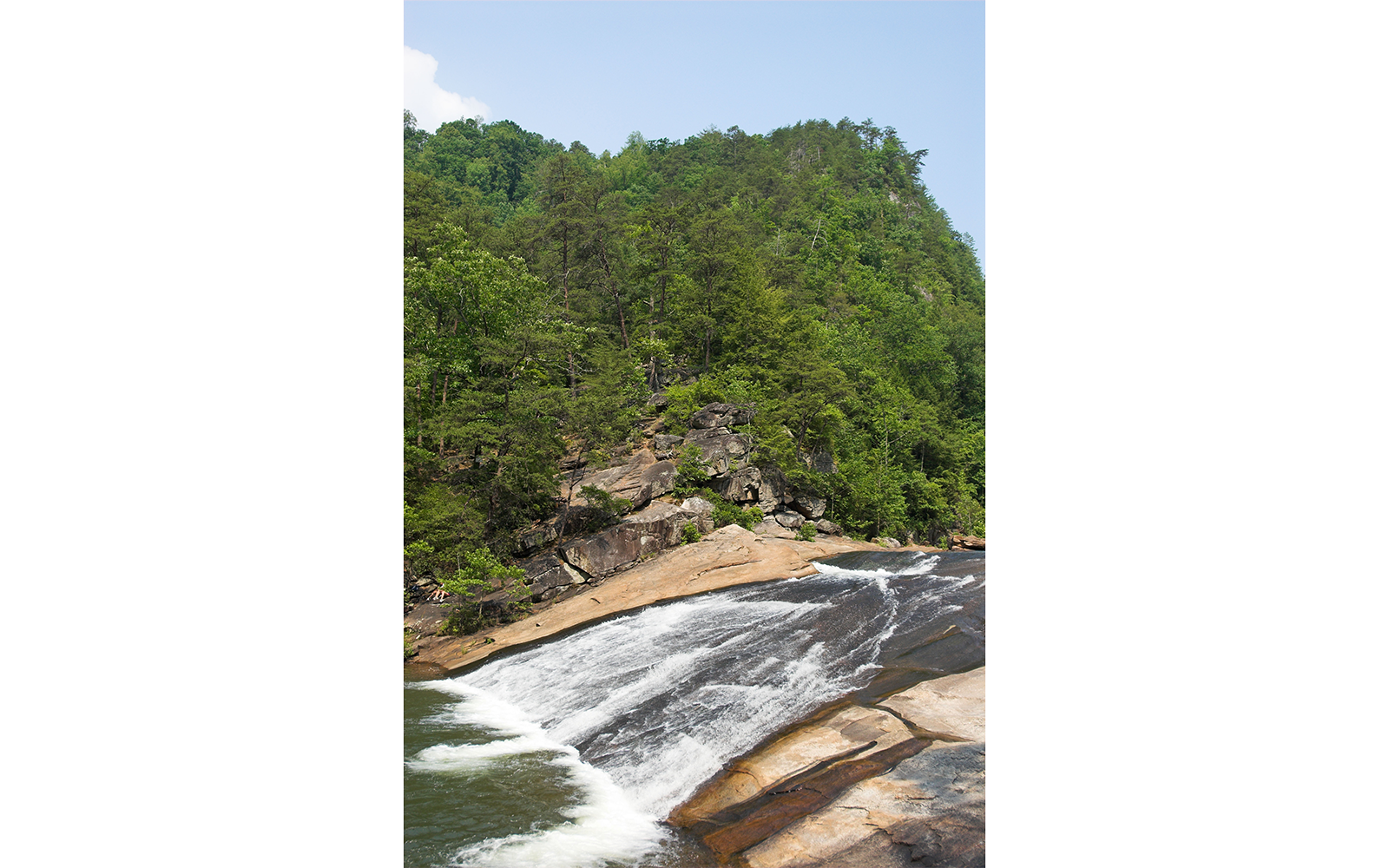 Bridal Veil Falls swimming hole in Tallulah Gorge State Park, GA