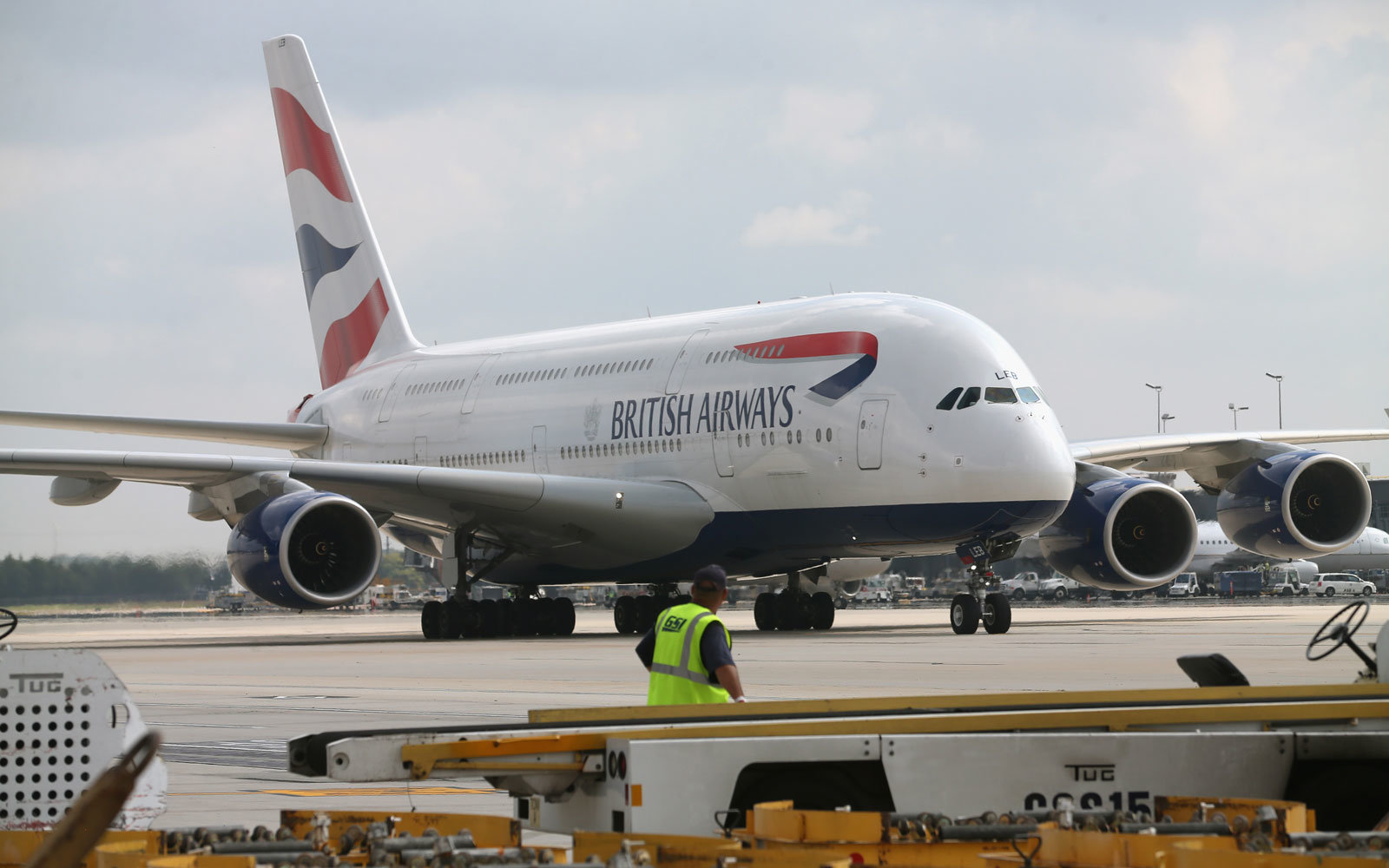 A British Airways jet.
