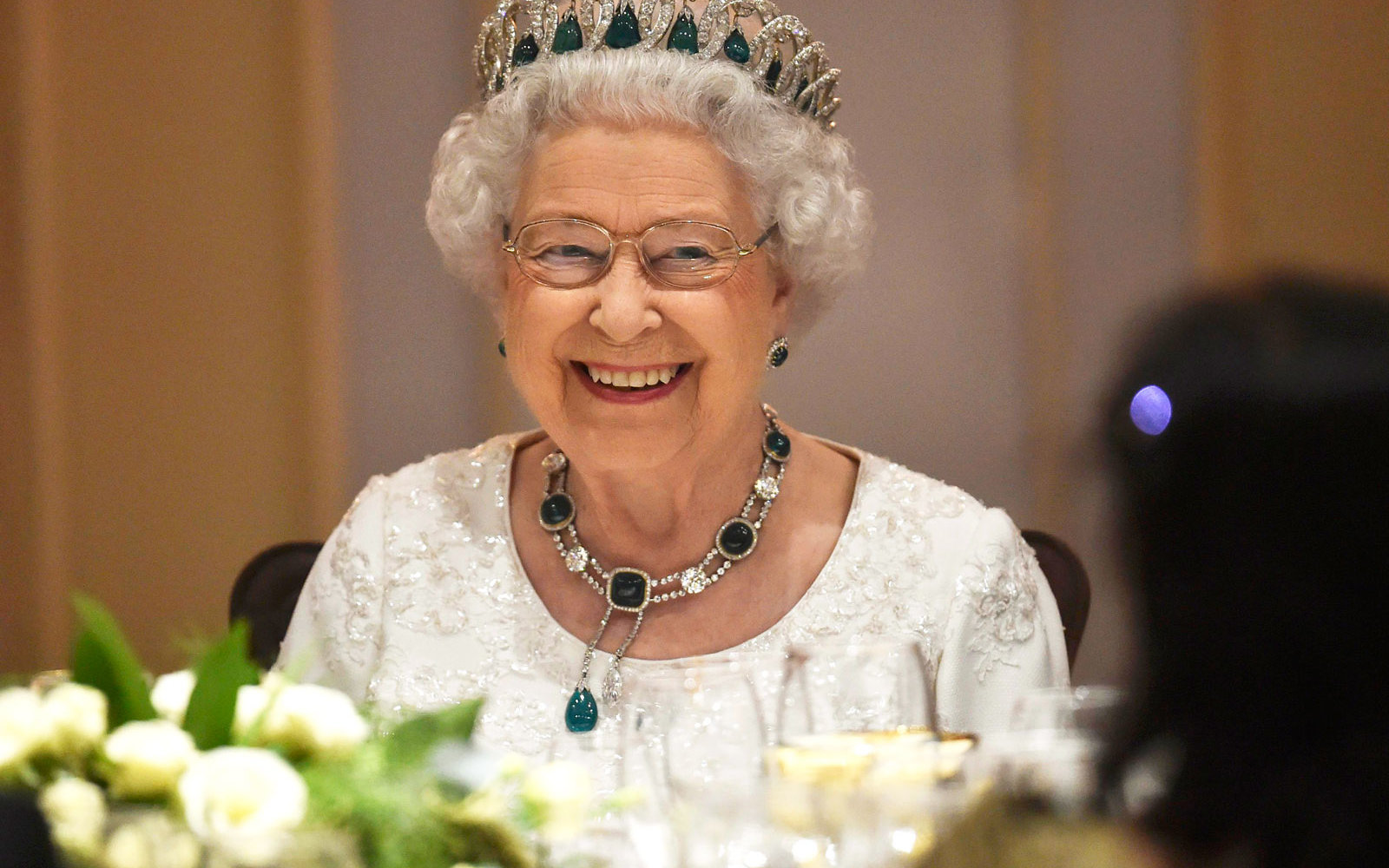Queen Elizabeth dining