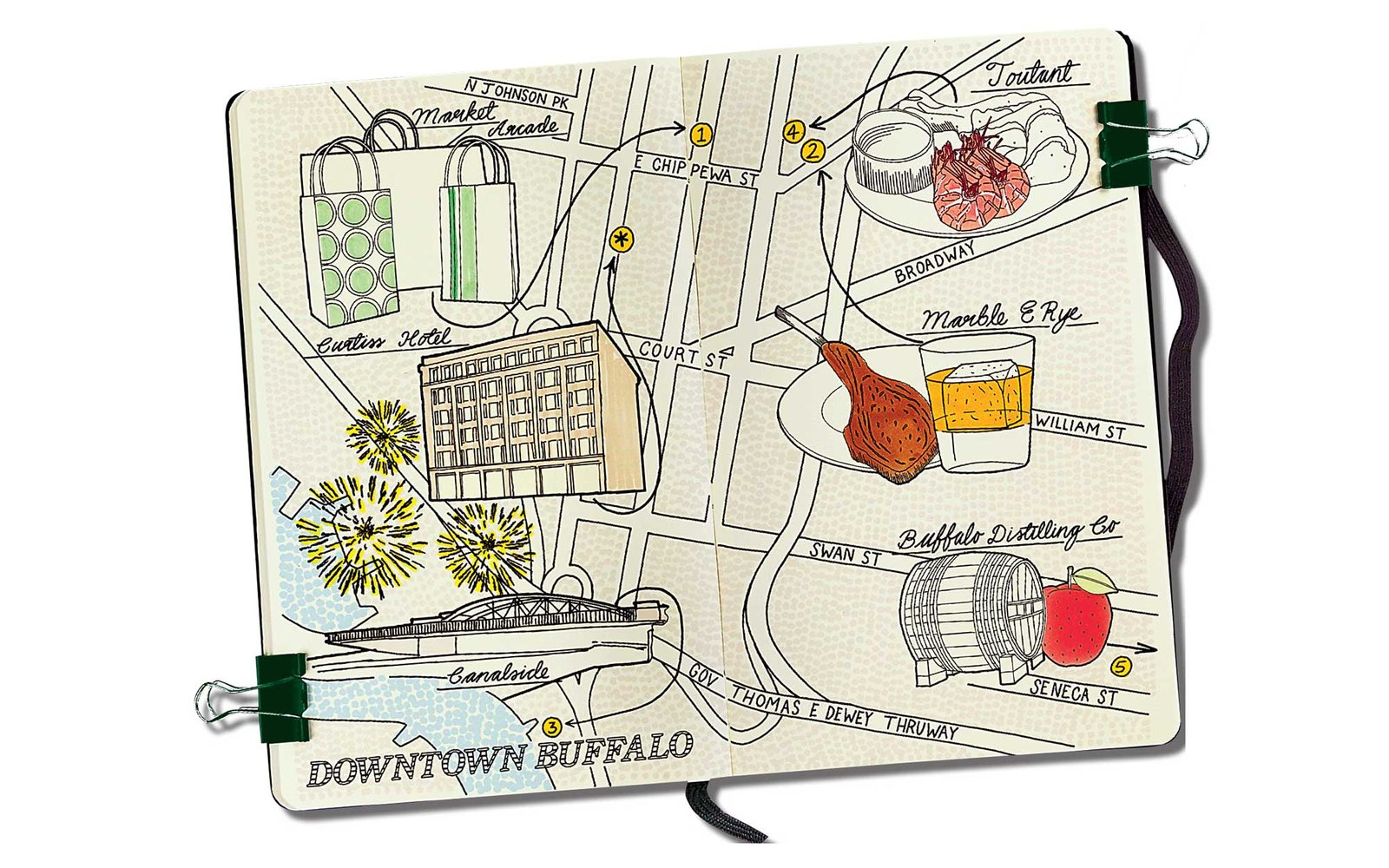 buffalo map notebook
