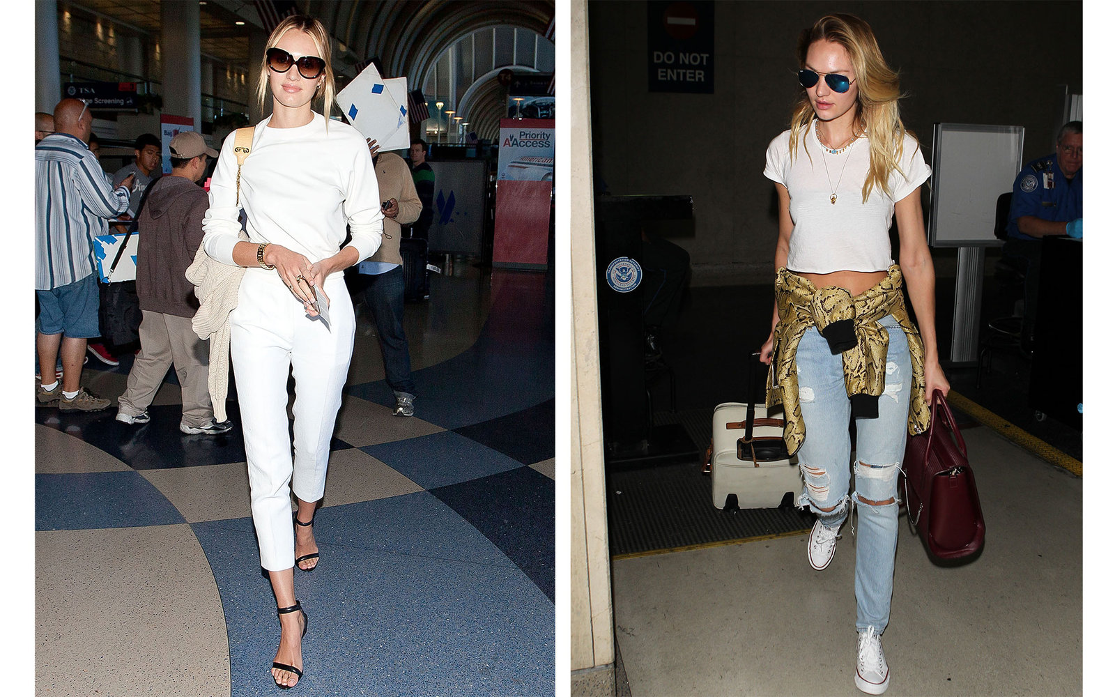 Airport Celebrity Style