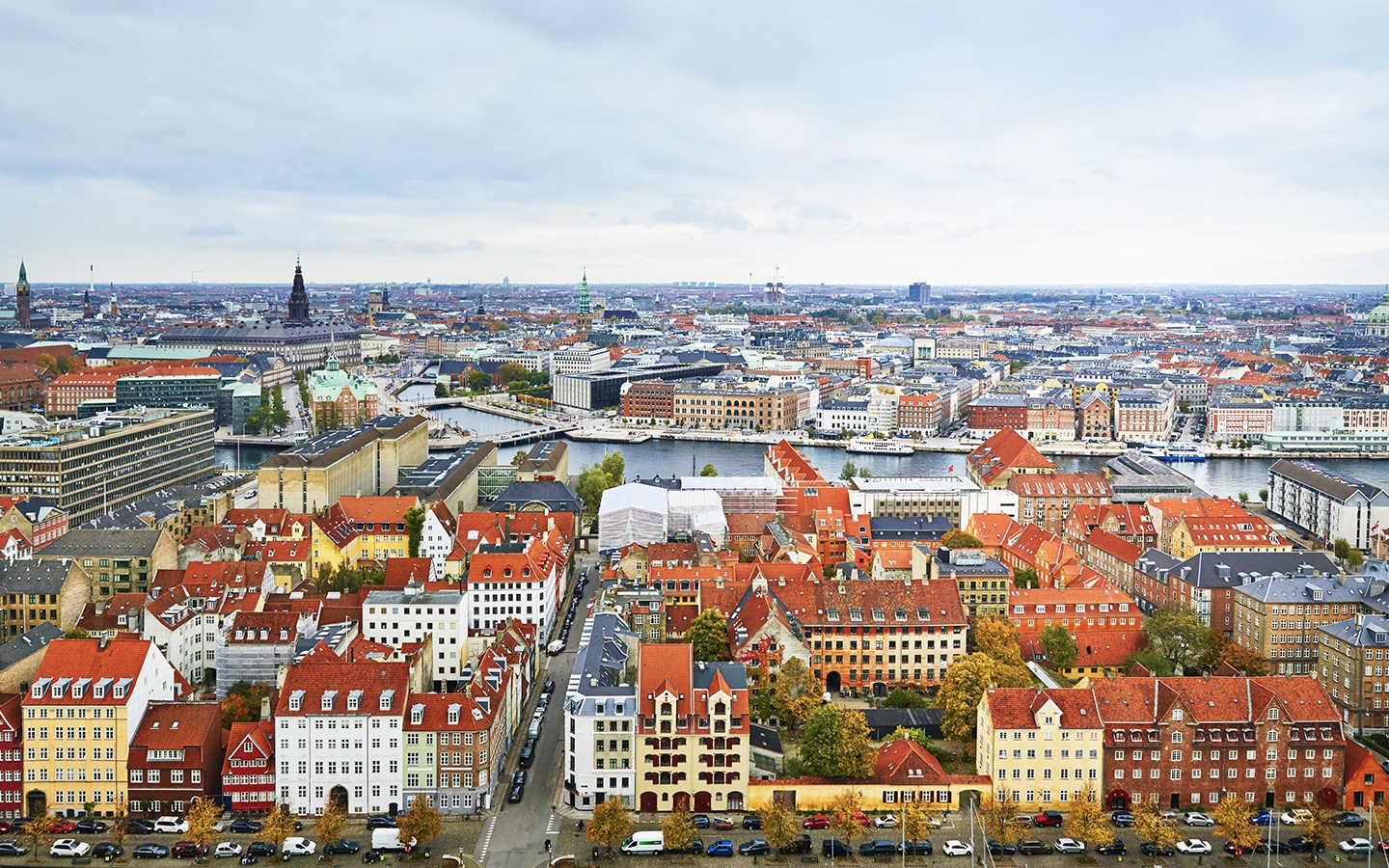 Aerial view of Copenhagen