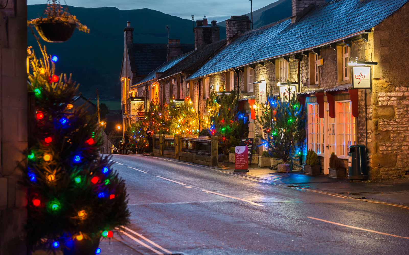 Christmas in Castleton, England