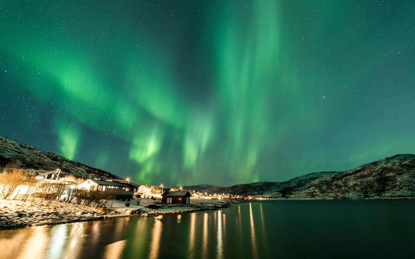 northern lights in tromso norway - Best European Cities For Christmas