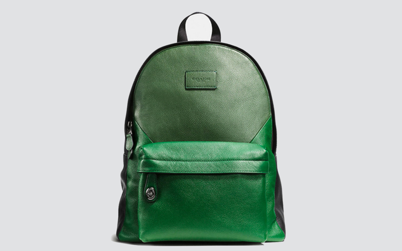 Coach green leather backpack