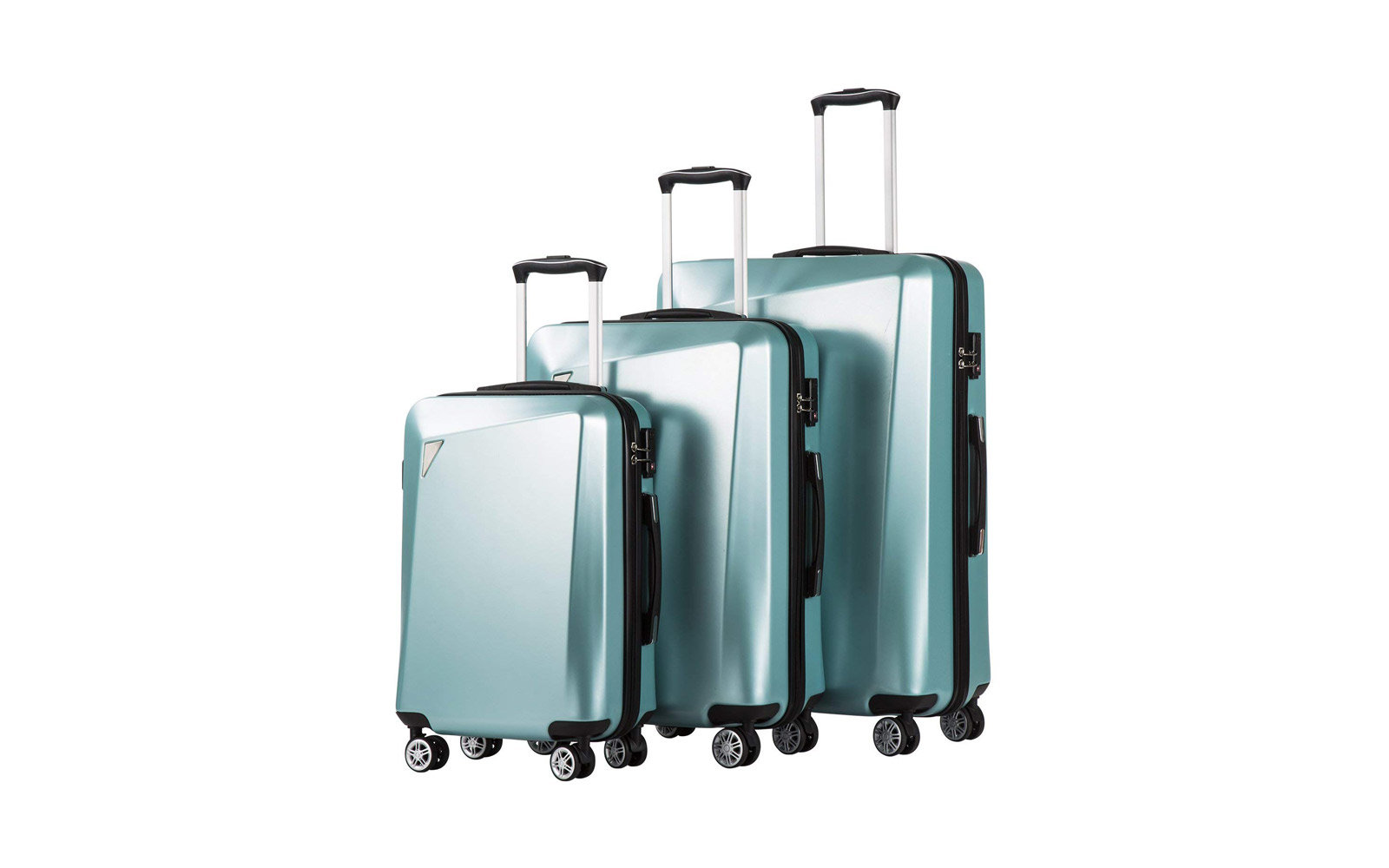 Delsey 3-piece blue luggage set