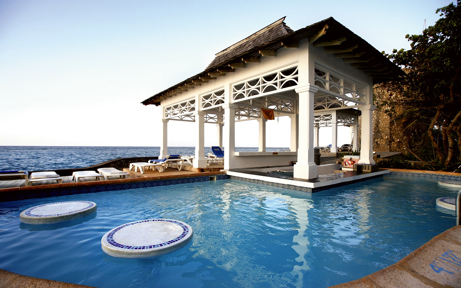 guest pool at Couples Tower Isle resort in St. Mary, Jamaica