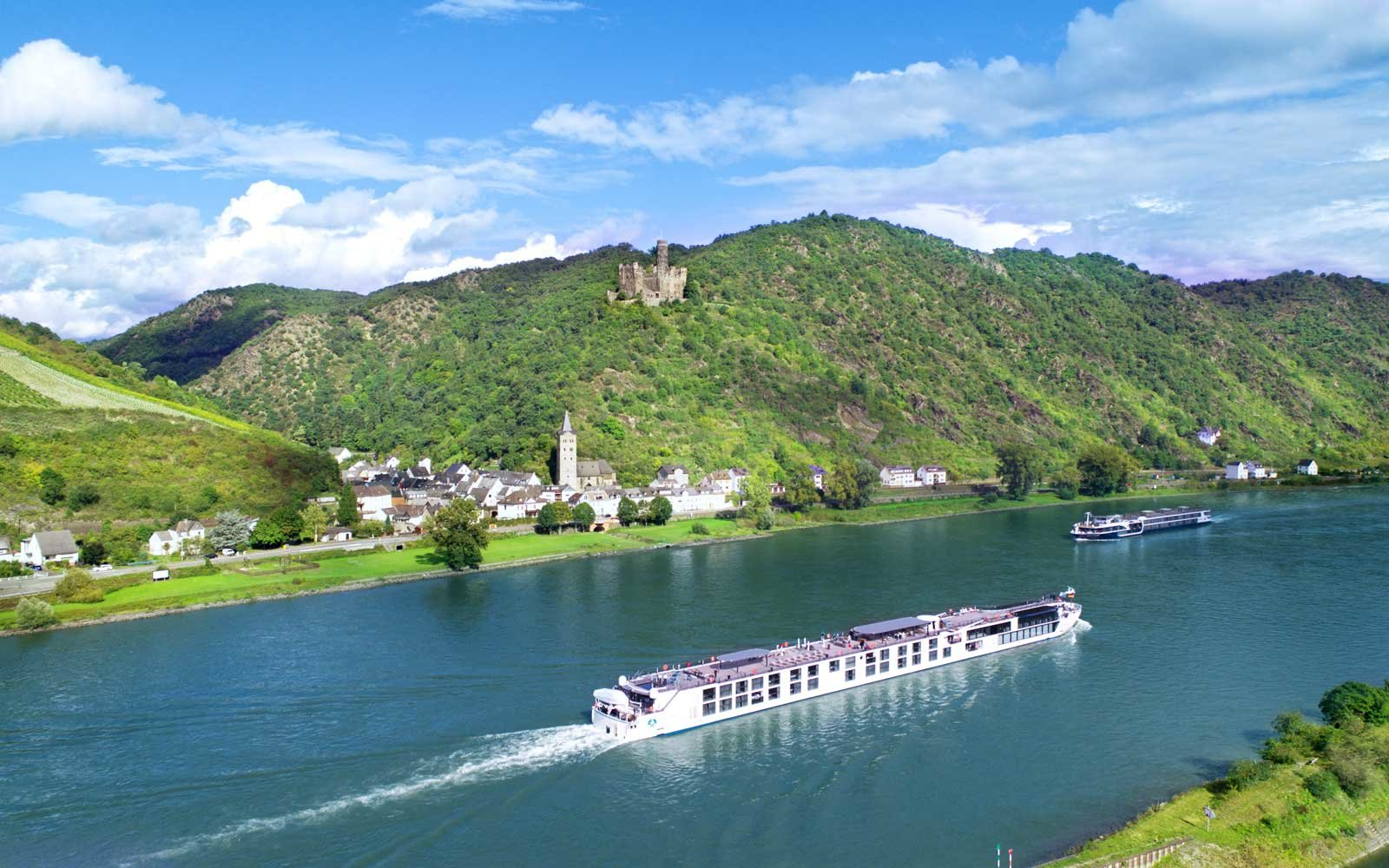 Top Deck of Crystal Cruises Rhine class river ships