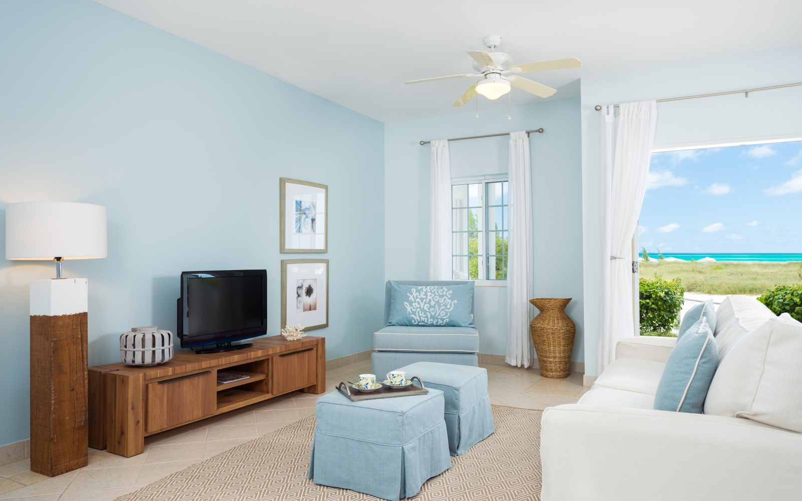 Interior of Beach House, Turks and Caicos