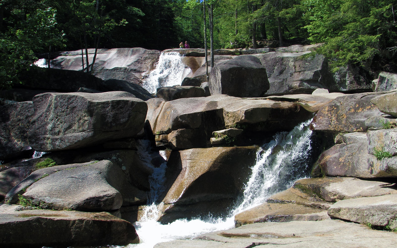 waterfalls at Diana's Baths swimming hole in Bartlett, NH