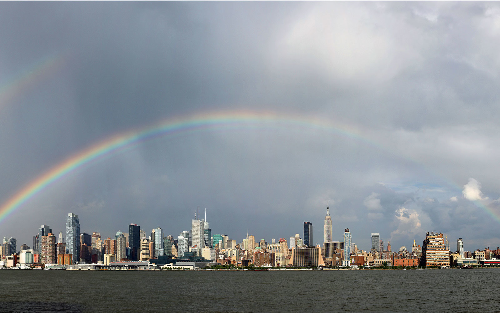 photos of the rare new york city double rainbow travel leisure