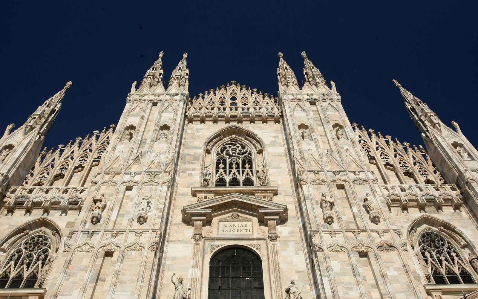 The Duomo in Milan, Italy.
