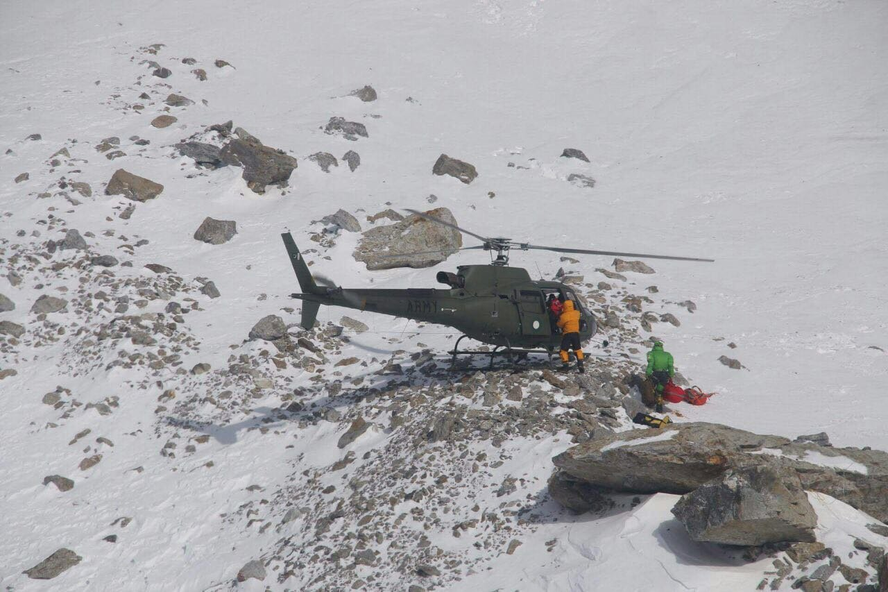 Rescued French mountain climber recovering in hospital