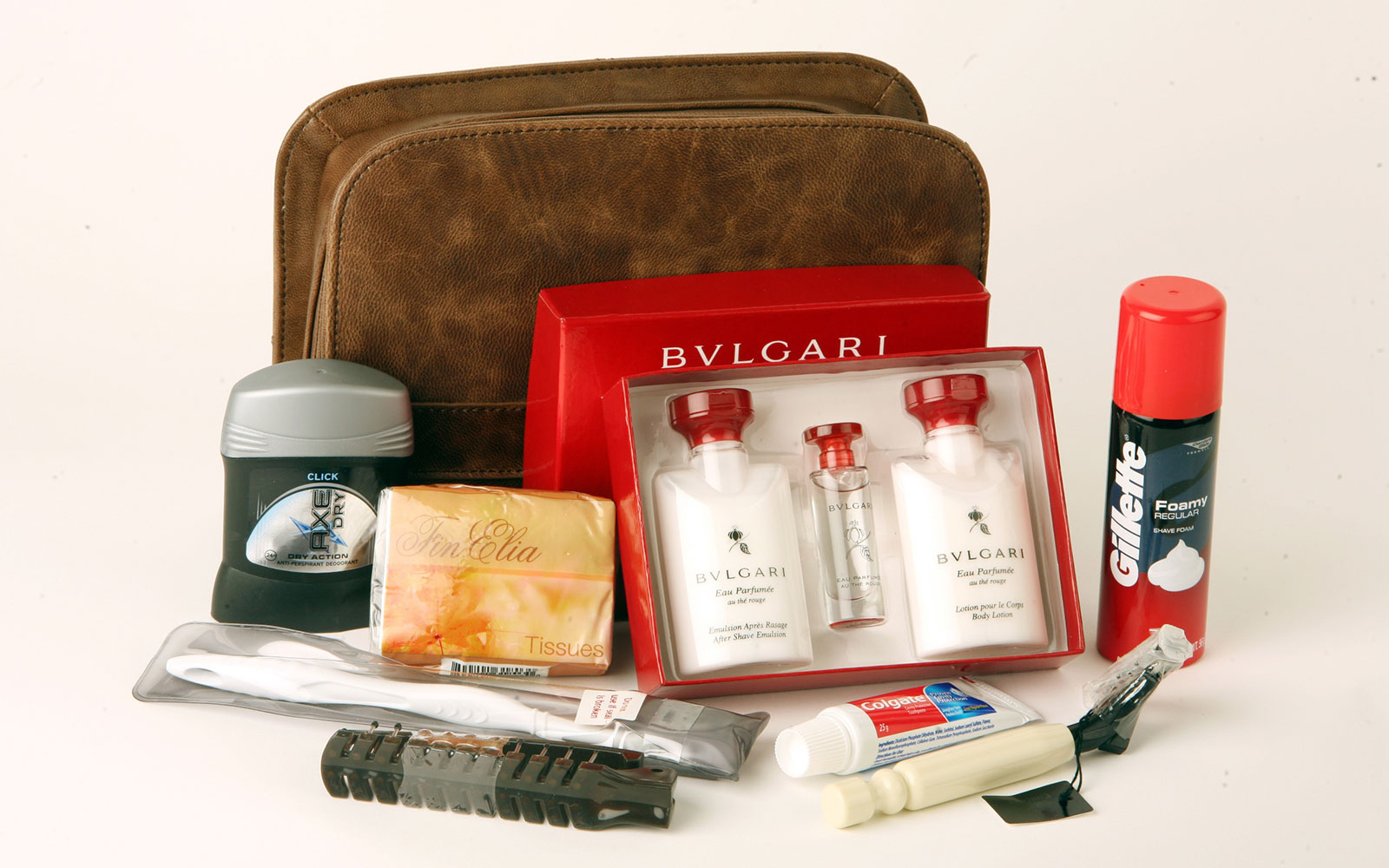 Emirates: First Class Bulgari Amenity Kits