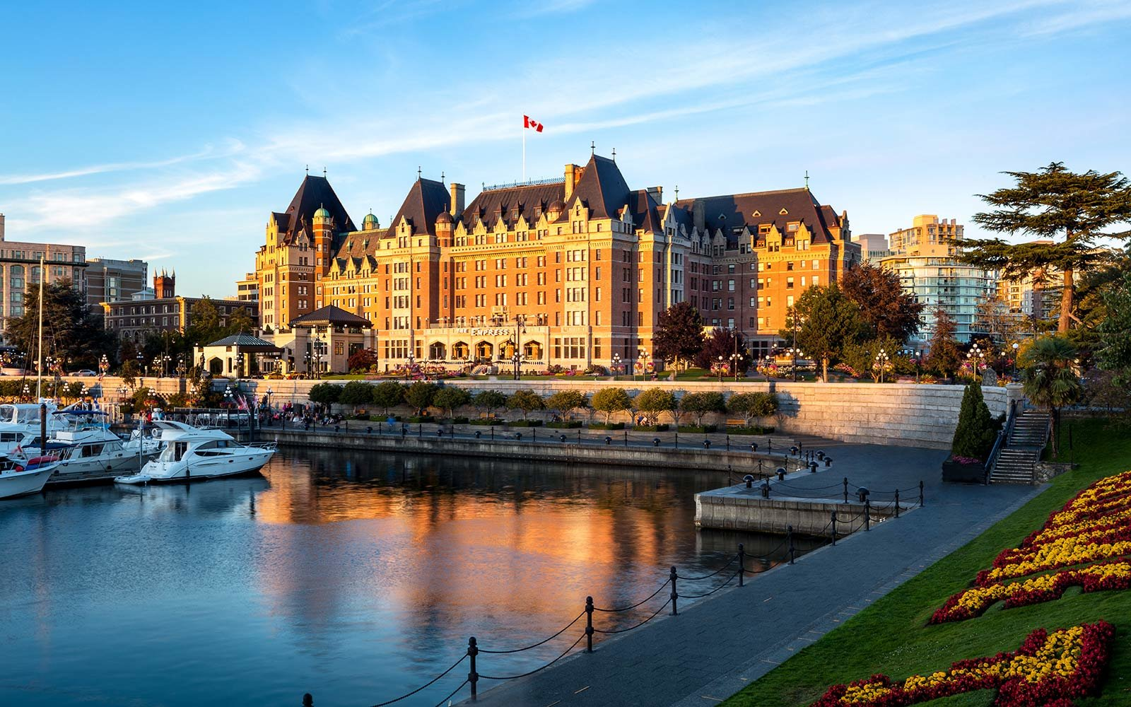 Exterior view of the Fairmont Empress hotel