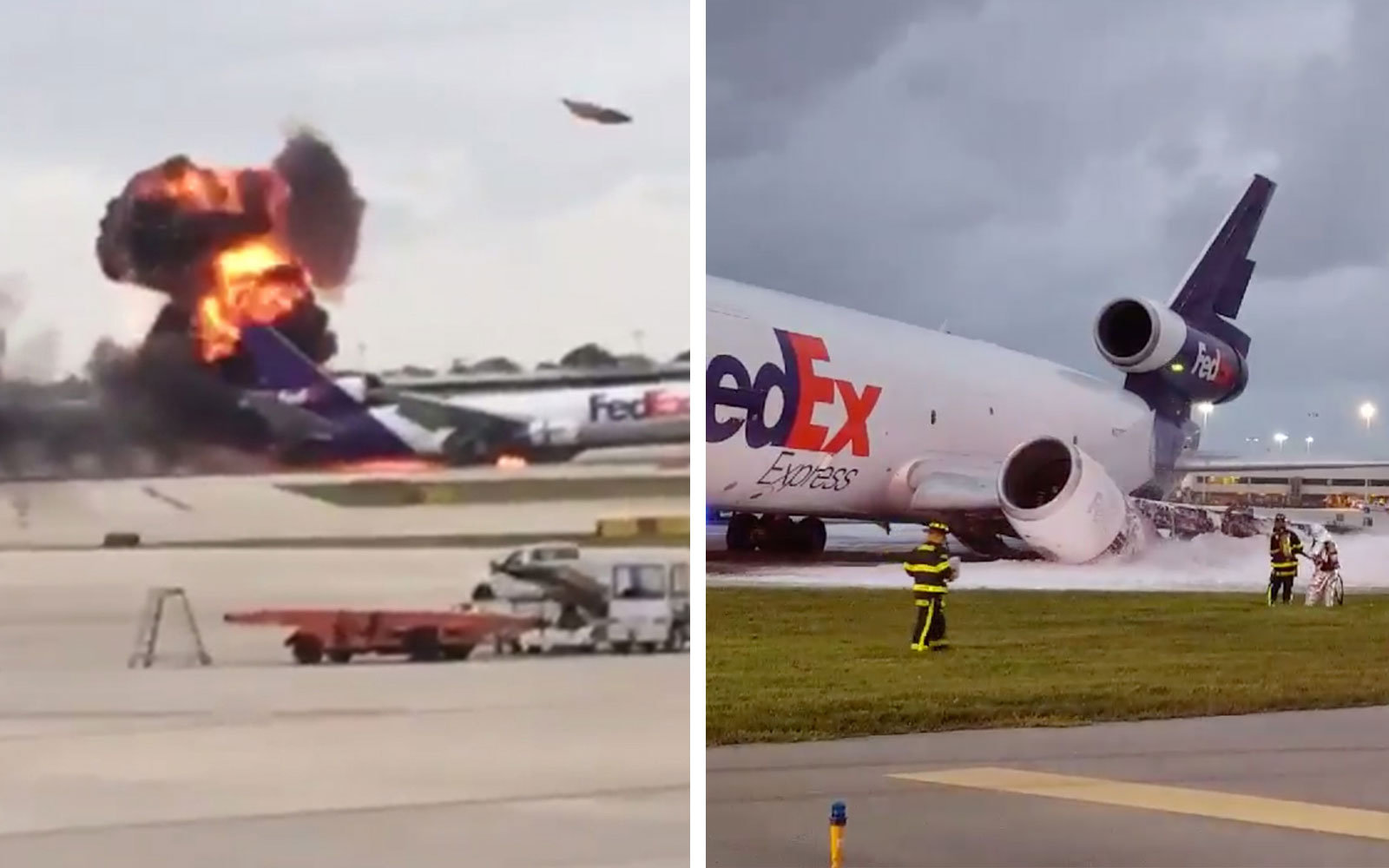 FedEx plane explodes at Ft. Lauderdale Airport