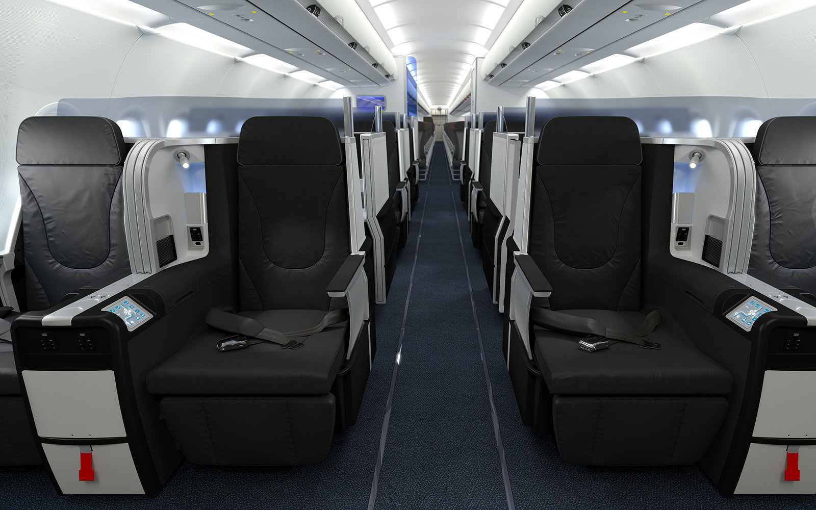 Mint seats in JetBlue's first class