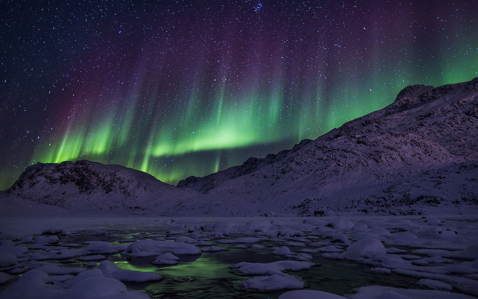 best place to see aurora borealis, Greenland