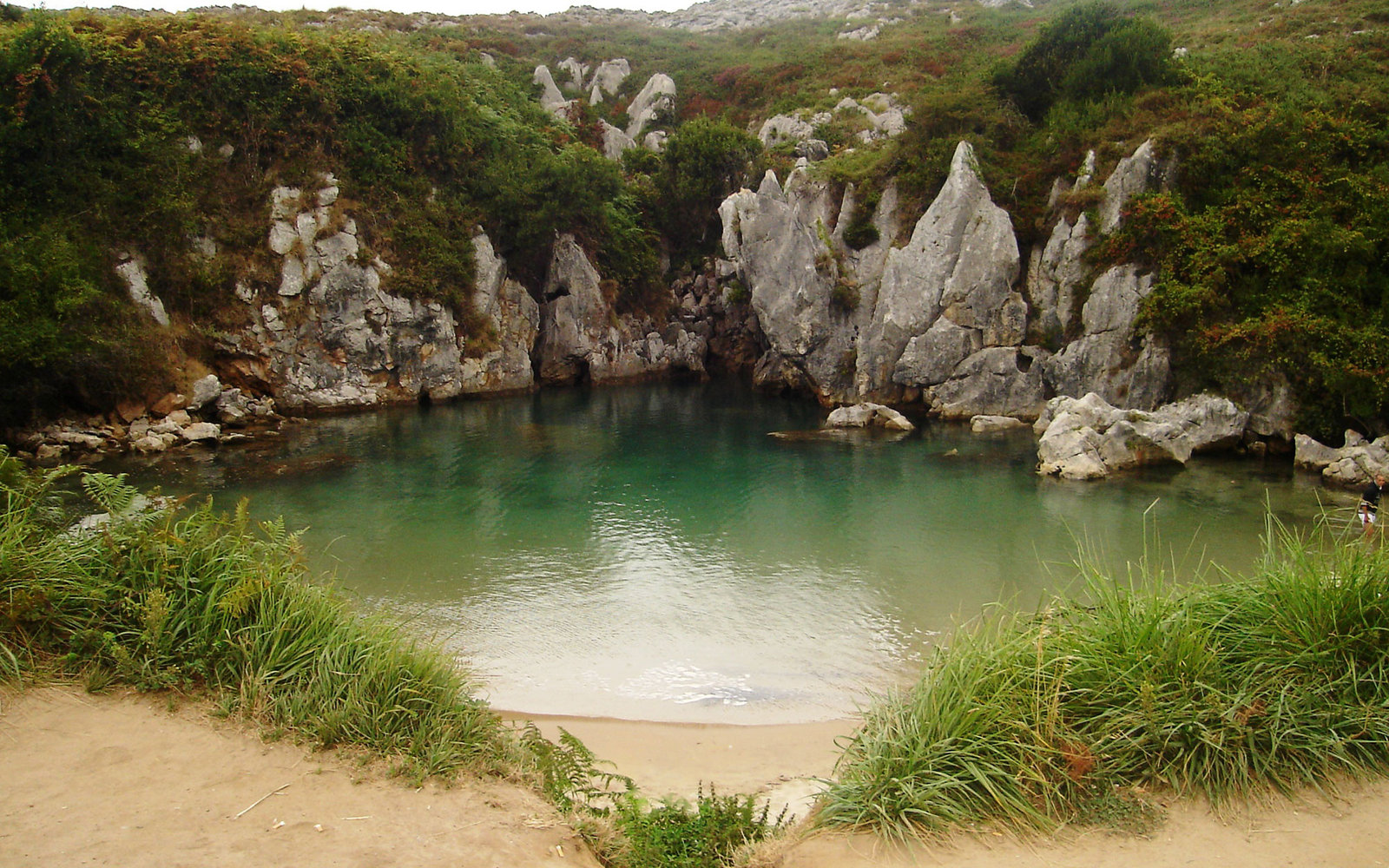 Gulpiyuri Beach, Llanes, Spain