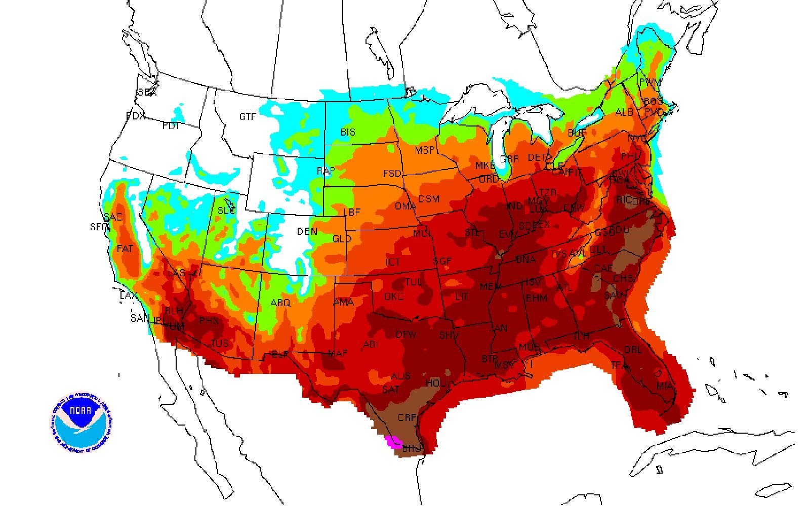 The first heat wave of the year is on the way