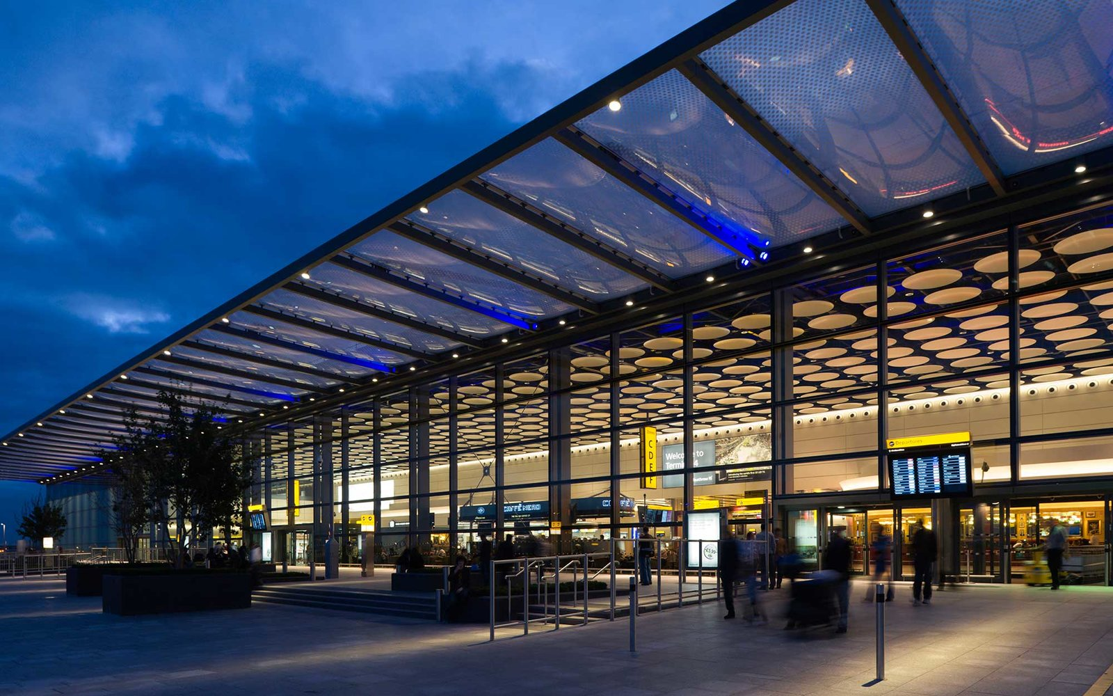 Heathrow Airport exterior night