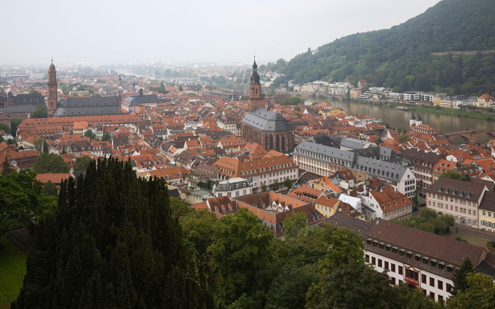 The city of Heidelberg, Germany.