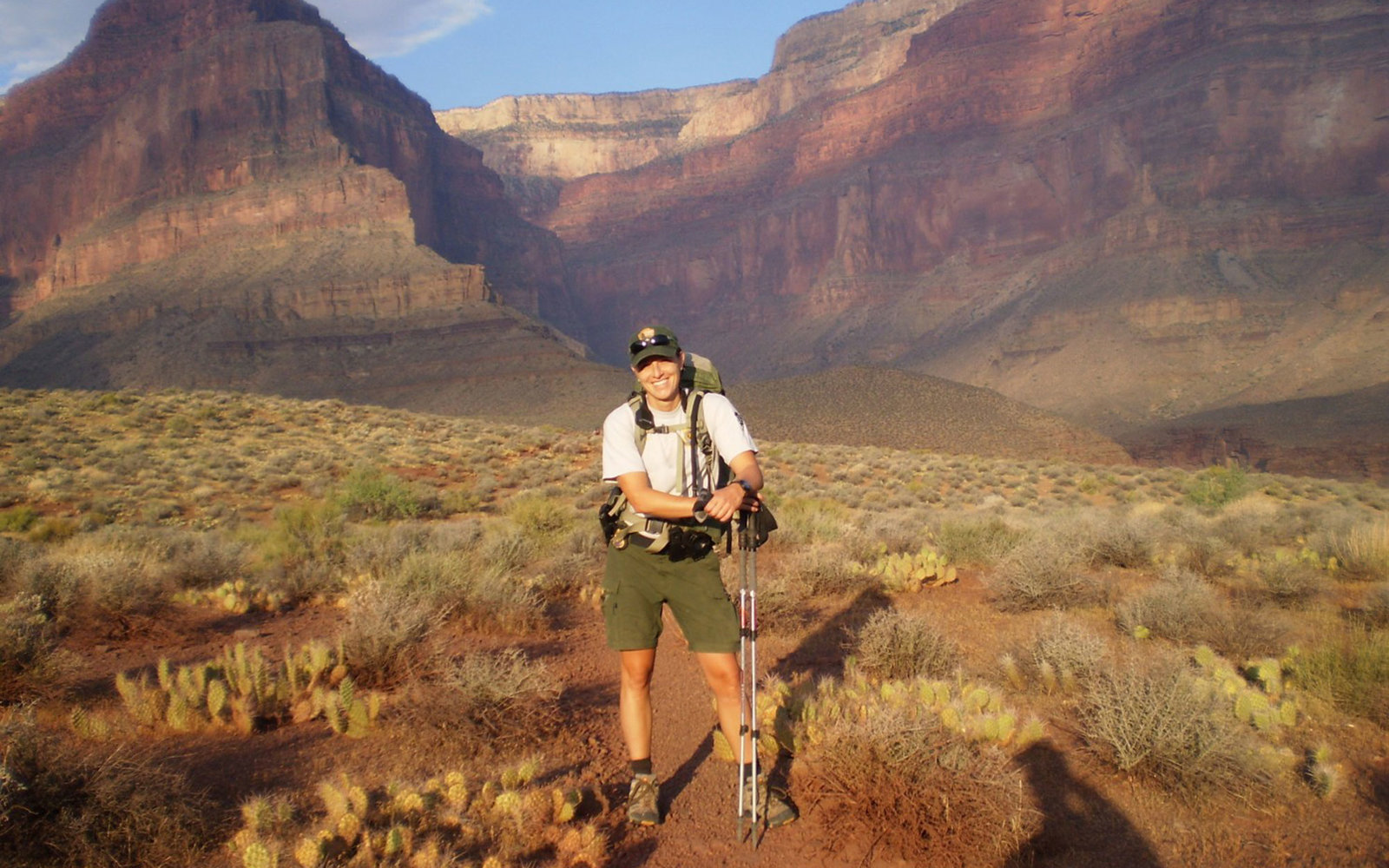 Lisa Hendy in Grand Canyon NP