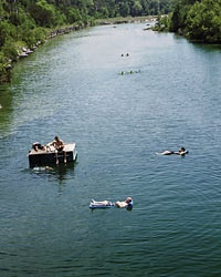 The rivers of texas hill country travel leisure for Floating the guadalupe river cabins